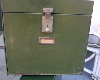 SALE Vintage Industrial Filing Box #2