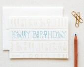 Letterpress Hieroglyphics Birthday Box of 6 Cards