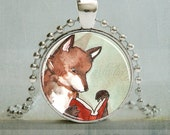 Fox Necklace, Fox Pendant, Fox Jewelry, Woodland Animal Art Pendant,| Animal Jewelry | No. 1048