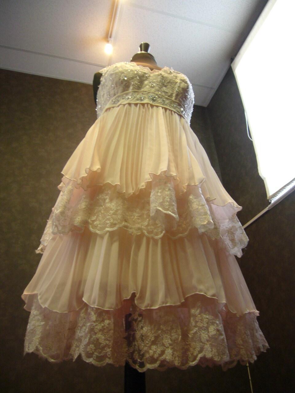 Blush Pink Plus Size Bridesmaid Dresses : Blush pink plus size wedding dress with by weddingdressfantasy