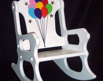 Child's Rocking Chair - balloons - toddler