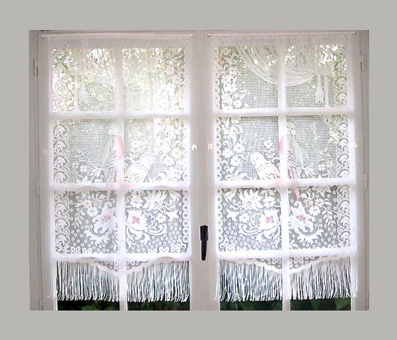 lace curtains white lace french curtains parrot curtains