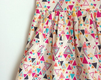 READY TO SHIP The Rosie Dress in Washi Triangles Size 5T Girls Dress