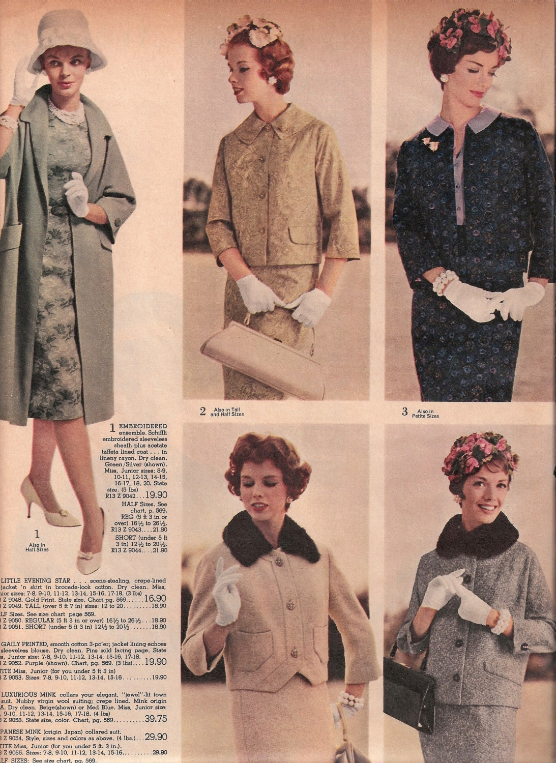 vintage coats fashion catalog pages from 1961 spiegel catalog