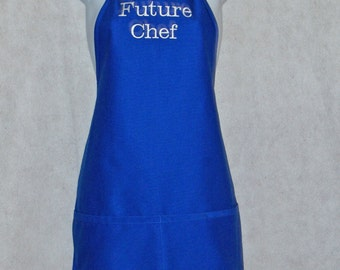 Future Chef Kid's Apron, Custom Gift For Teen, Youth,  Petite, Personalized With Name, No Shipping Fee, Ships TODAY, AGFT 277
