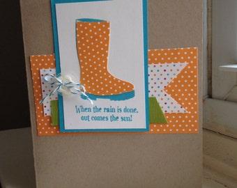 Cheerful Rain Boot Card