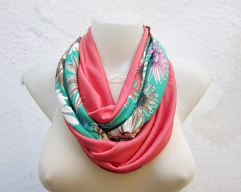 Infinity scarf,Gift for her,Loop scarf,combed fabric,Women scarf