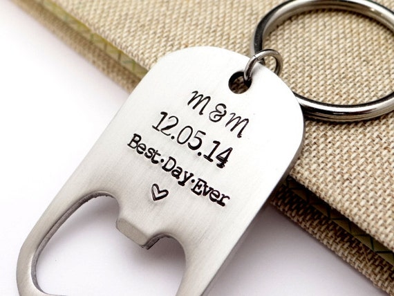 bottle opener wedding favor best day ever by bbeadazzled on etsy. Black Bedroom Furniture Sets. Home Design Ideas