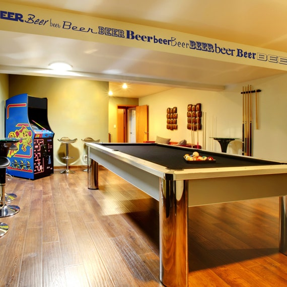 Basement Decorating Ideas For Men: Perfect For Your Man Cave Pool Room Or Den Decorative Vinyl