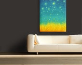 24x36 Firefly Painting Original - HUGE Original Abstract Modern Acrylic Painting - Living Room Decor - by Paper Finch Studio