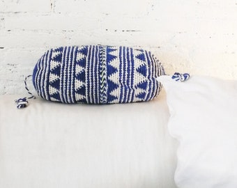 Pillow Crochet Marrakech - navy blue