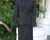 SALE Vintage 1940s Wool Skirt Suit
