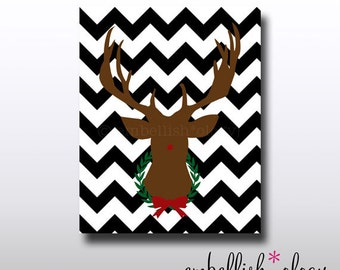 Classic Rudolph 8x10 Printable Art - Instant Download