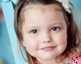 Triple Mini Shabby Chic Rose Headband - Infant Headband - Newborn Headband - Children's Headband