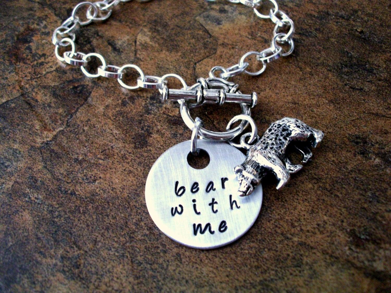personalized jewelry bear jewelry bear bracelet bear charm. Black Bedroom Furniture Sets. Home Design Ideas