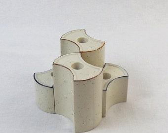Set of 4 Ceramic Candleholders