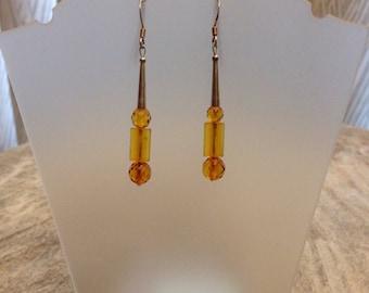 Vintage Faceted Amber earrings