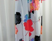 Vintage Caftan Kaftan 1960s Kimono Style Bell Sleeves Waist Chinch Plus Front Tie Must See by Voila Vintage Lingerie