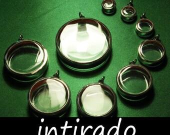 Terrarium Necklace Kit, Cameo Blanks, Pendant Blanks, Reliquary, Shadow Box Display Cases, Mementos, Diorama, Clear Locket Blanks