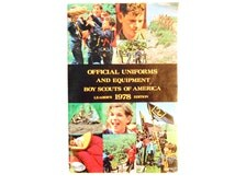 Vintage Boy Scout Uniform and Equipment Catalog, 1978
