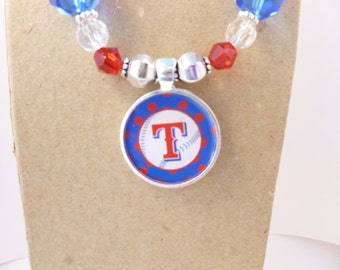 Texas Rangers Game Day Necklace