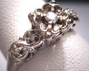 Antique Diamond Wedding Ring Vintage Engagement Deco