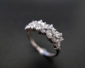 marquise diamond wedding ring band women jewelry custom made jewellery in platinum - Marquise Diamond Wedding Ring