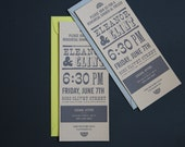 Save the Date / Wedding Invitation / Casual / Rehearsal Dinner / Wood Type / Modern / Letterpress / SAMPLE