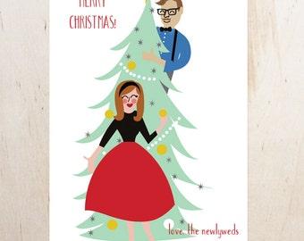 Custom Christmas Card   Digital Illustration