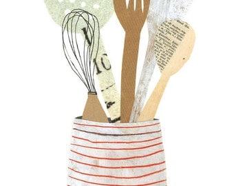 Kitchen Utensils Giclee Print