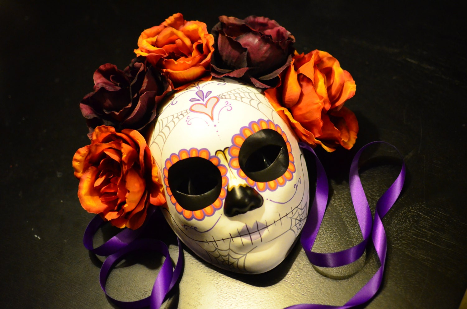 Fall for you Day of the Dead Mask Traditional sugar Skull