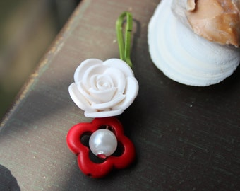 Day of the Dead Rose Charm