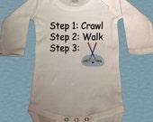 Hockey Bodysuit - Steps Hockey Bodysuit - Future steps crawl walk hockey Bodysuit - infant onepiece - pro NHL hockey player bodysuit
