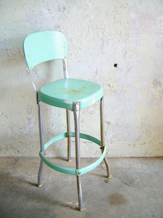 retro metal kitchen stool