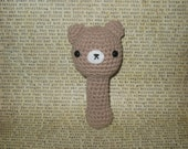 Amigurumi Teddy Bear Rattle Crochet Baby Toy