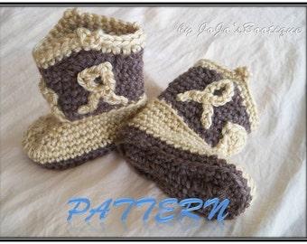 "PDF Cowboy Boots PATTERN - Cowboy Boot Pattern - Crochet Baby Cowboy ""Boot""ies- Crochet Booties Pattern - by JoJosBootique"