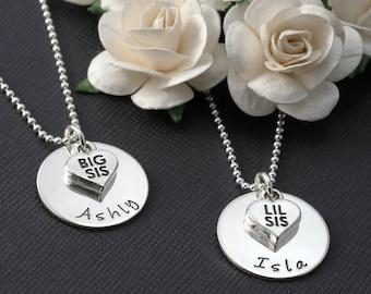 Big Sister OR Little Sister - Sterling silver Necklace