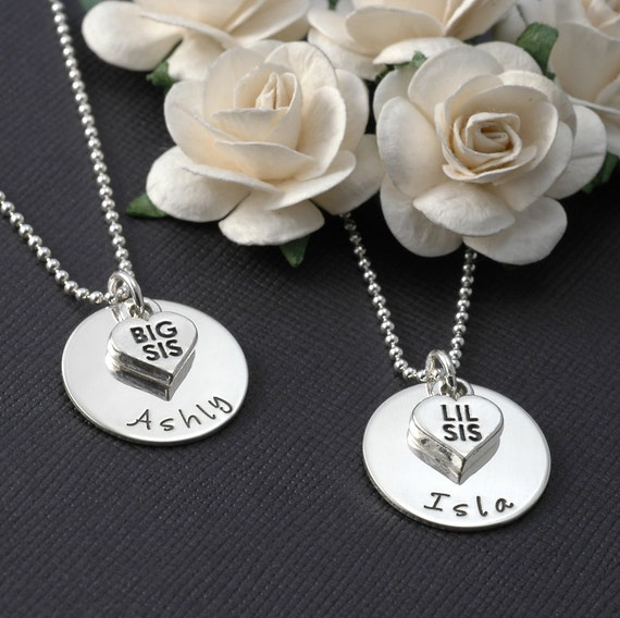 Big Sister OR Little Sister - Sterling silver Necklace