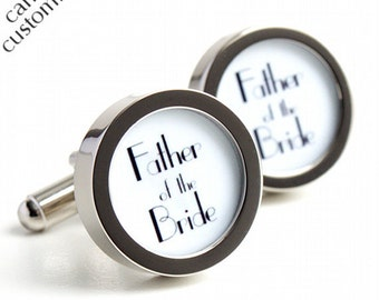 Father of the Bride Cufflinks 1920s Art Deco Style A406