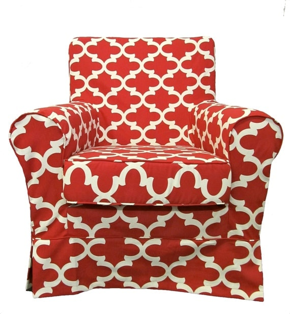 Custom Furniture Slipcovers: IKEA Jennylund Custom Slipcover In Cardinal Fynn By