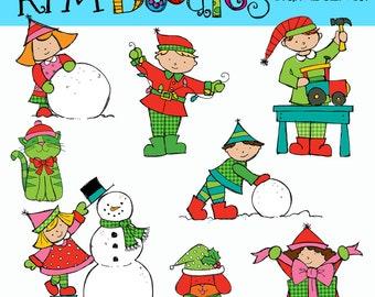 KPM Santas Helpers Digital Clip art