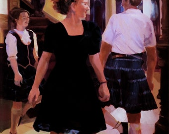 Entry Hall: Scottish Country dance - cards, original art