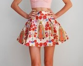 La Virgencita - Alexander Henry Fabric Pleated Skirt - Day of the Dead - HANDMADE - More colors available