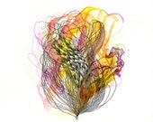 "Element VII - Giclee print - 8.5"" x 11"" / organic art print / contemporary art / watercolor abstract painting"