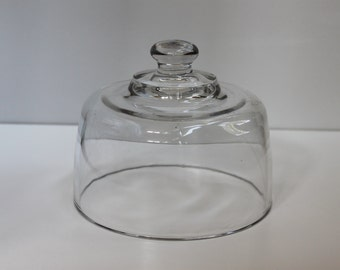 Vintage Glass Cloche, Bell Jar, Glass Dome, Cheese Dome Cover, Apothecary, Terrarium