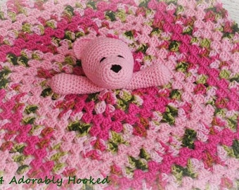 Teddy Bear Lovey, Security Blanket, Blankie, MADE TO ORDER