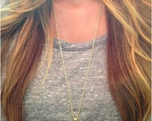 Gold Dipped Black Tourmaline Necklace  - Stone Necklace