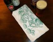 Stocking Stuffer Beer Gift Hops Craft Beer Bar Towel Housewarming Birthday Christmas Wedding Gift for Homebrewer or Craft Beer Enthusiast