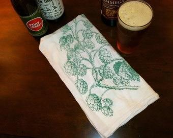 Stocking Stuffer, Beer Gift, Hops, Craft Beer, Bar Towel, Housewarming, Christmas Gift, Wedding Gift for Homebrewer or Craft Beer Enthusiast