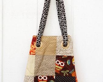 Purse, Handbag, Handmade Purse, Tote bag, Women's Purse, Owl Tote Bag
